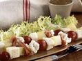 Recette : Brochettes de légumes au fromage - Recette au fromage
