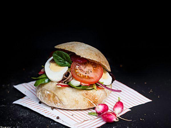 Sandwichs :  Sandwichs campagnards au fromage et jambon de pays
