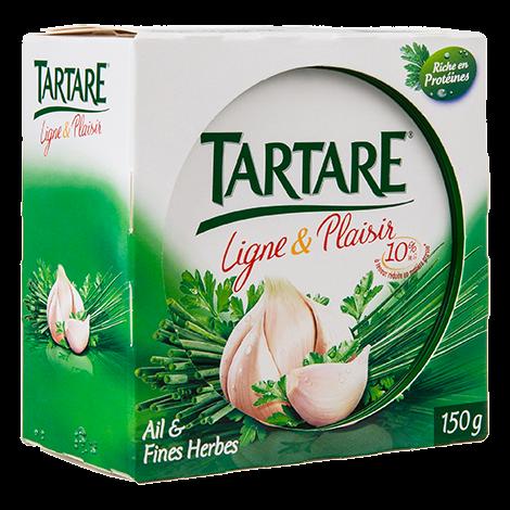 TARTARE LIGNE ET PLAISIR AIL ET FINES HERBES POT 150G