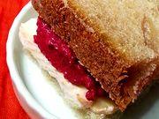 Recette : Club-sandwich à la crème de betterave et fromage - Recette au fromage