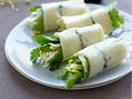 Recette : Rouleau de printemps aux herbes et fromage - Recette au fromage