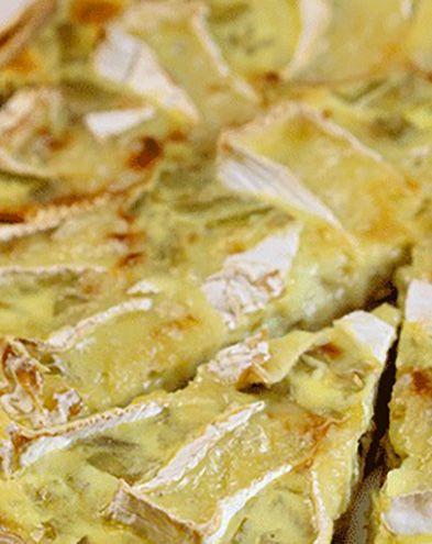 Recettes de quiches au fromage :  Quiche aux poireaux et au camembert