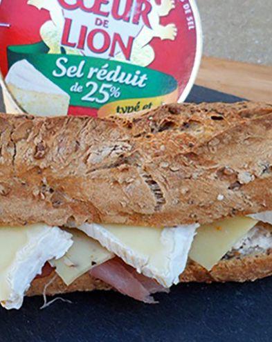 Sandwichs :  Sandwich poulet et camembert