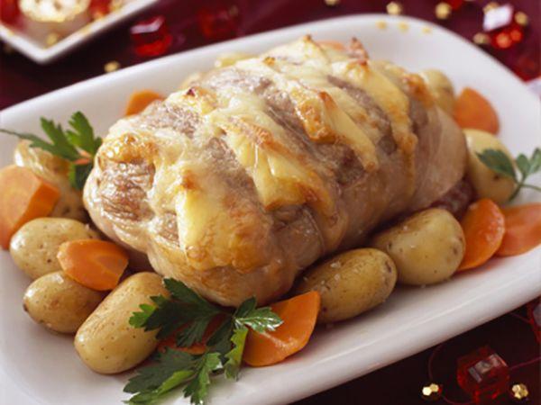 Menu de Noël :  Rôti de porc au Maroilles