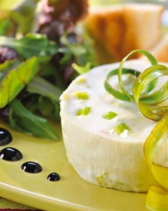 Recettes au fromage frais :  Bavarois aux poireaux et fromage frais 0%