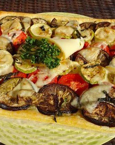 Tartes salées et sucrées au fromage :  Tarte au fromage façon tian provençal