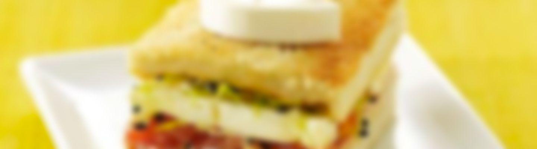 Recette Mini croque jambon et tomate - Recette au fromage