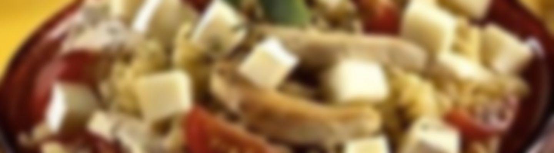 Recette Salade de tortis au poulet et au fromage - Recette au fromage