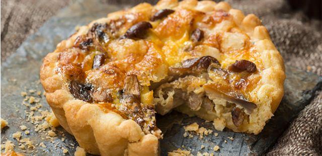 Recettes de quiches au fromage : Quiche aux champignons et au fromage