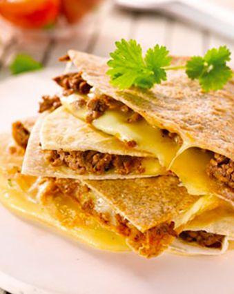 Raclette :  Quesadillas au fromage à raclette