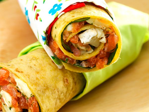 Sandwichs :  Wraps au Coulommiers et saumon
