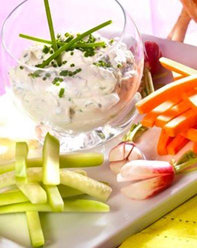 Recettes rapides :  Dip au fromage de chèvre frais