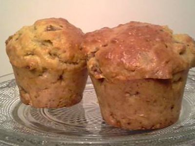 Recette : Muffins aux poires et au fromage - Recette au fromage