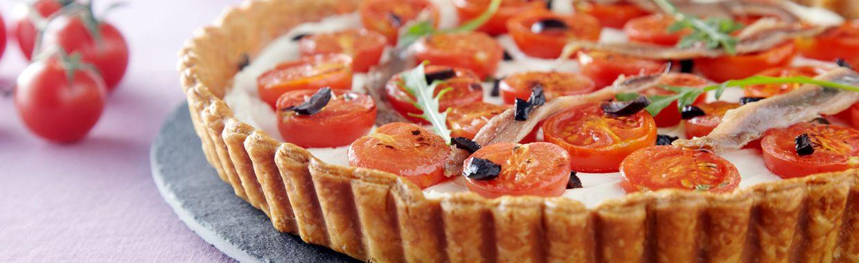 Tarte sal e au fromage frais l 39 id e recette crousti - Idee recette tarte salee ...