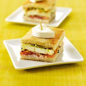 Recette : Mini croque jambon et tomate - Recette au fromage