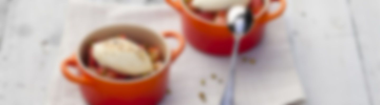 Recette Mini cocottes aux fraises et fromage frais - Recette au fromage