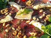 Recette : Carpaccio de boeuf au fromage et pistou - Recette au fromage