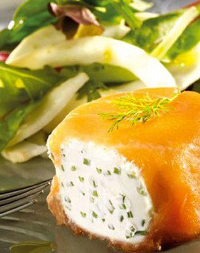 Recettes de Saint-Valentin :  Petits pannequets de saumon fumé au fromage frais