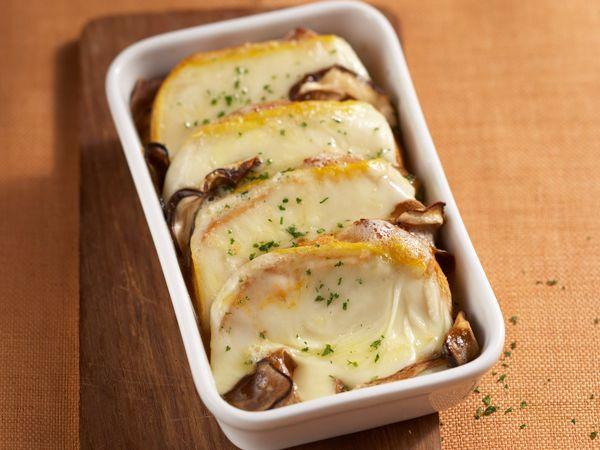 Croque-monsieur :  Croque-monsieur aux champignons et fromage
