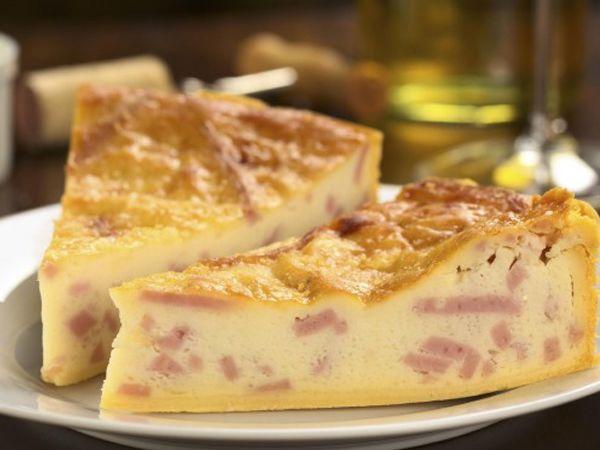 Recettes de quiches au fromage :  Quiche au jambon et parmesan
