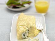 Recette : Omelette au Bleu d'Auvergne - Recette au fromage