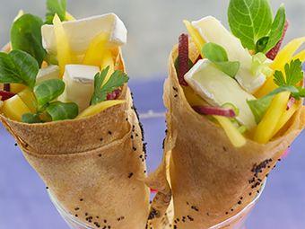 Recette : Cornets des amoureux - Recette au fromage