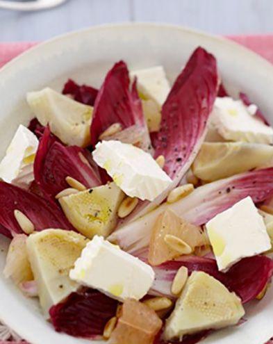 Recettes de Saint-Valentin :  Salade d'endive au fromage frais