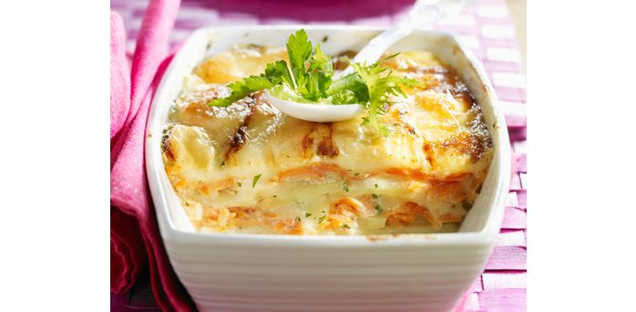Recette : Tartiflette au saumon fumé - Recette au fromage