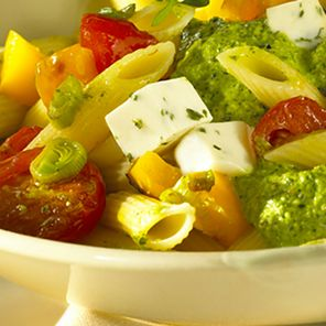 Recette : Pâtes aux légumes et fromage frais - Recette au fromage