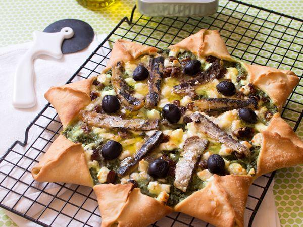Pizzas au fromage :  Pizza étoilée à la feta