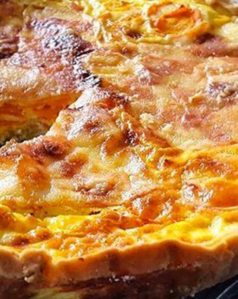Tartes salées et sucrées au fromage :  Tarte à la carotte et au fromage