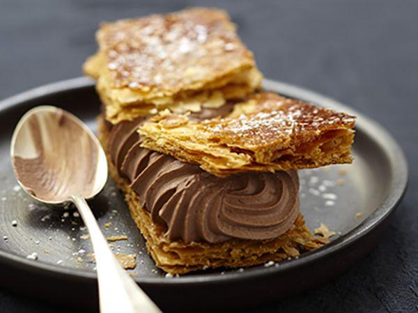 Recettes de Saint-Valentin :  Feuilletés au cacao au fromage frais