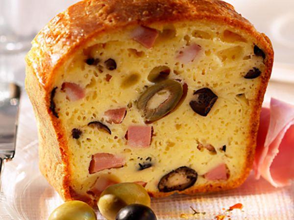Recettes françaises :  Cake jambon au camembert