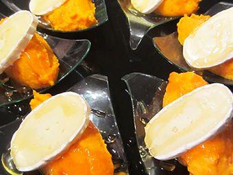 Recette : Cuillères apéritives à la crème de carottes, miel et fromage - Recette...