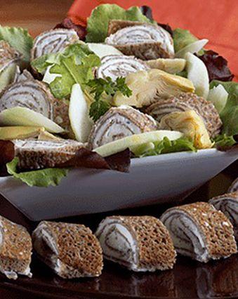Recettes de crêpes et galettes :  Roulés au sarrasin et fromage frais saveur olive