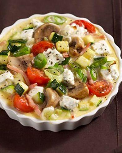 Tartes salées et sucrées au fromage :  Quiche aux légumes et chèvre frais
