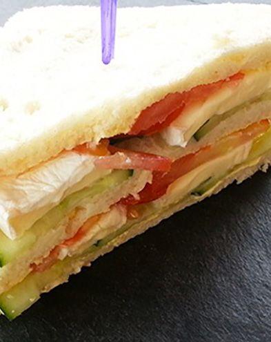 Sandwichs :  Club sandwich crudités et fromage