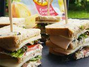 Recette : Club sandwich poulet et fromage - Recette au fromage