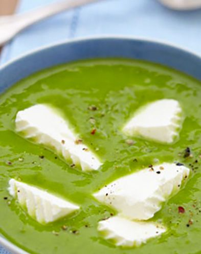Recettes de soupes :  Velouté de coeur d'artichauts au fromage frais