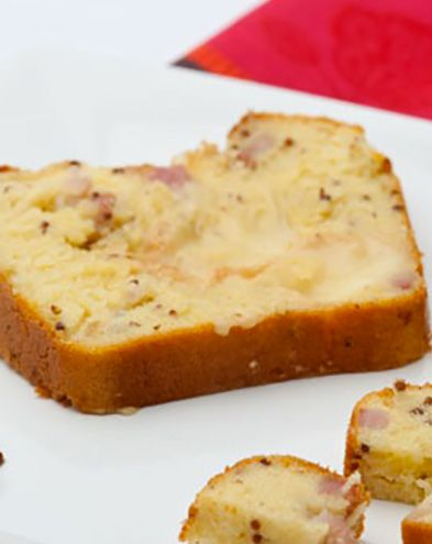 Recettes pas chères :  Cake aux lardons au Maroilles