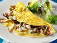Recette : Omelette aux champignons des bois et au bleu - Recette au fromage