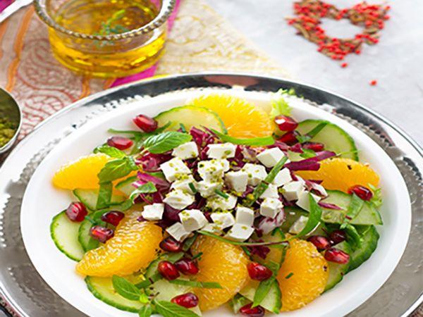 Recettes de Saint-Valentin :  Salade orientale au fromage frais