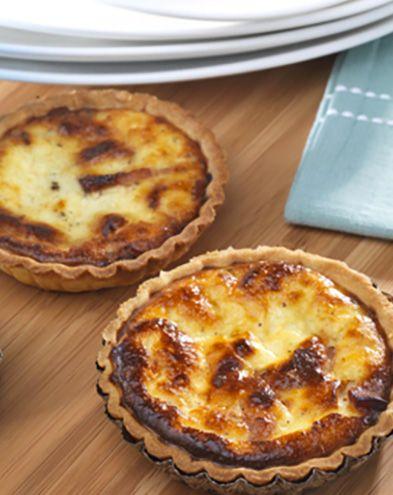 Tartes salées et sucrées au fromage :  Quiche au fromage de chèvre frais et aux petits lardons