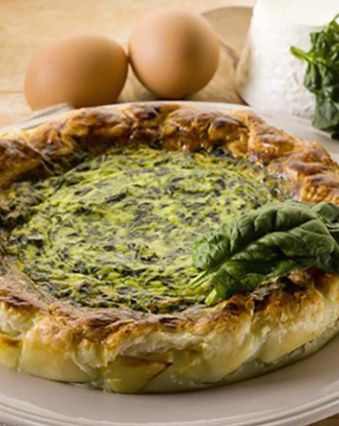Recettes de quiches au fromage :  Quiche aux épinards et au fromage de chèvre frais