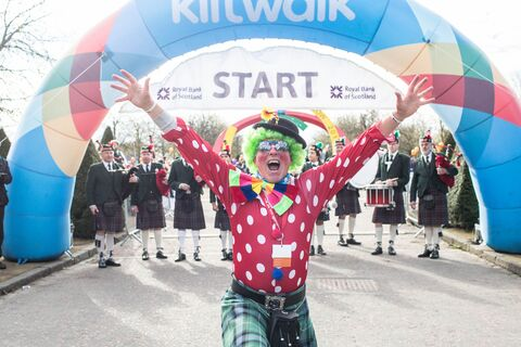 Kiltwalk start