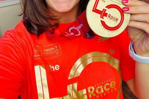 Virtual London Marathon medal and t-shirt
