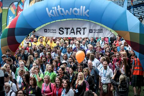 Kiltwalk Edinburgh Start
