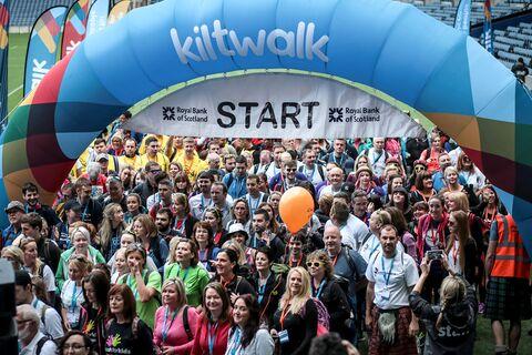 Kiltwalk Edinburgh Start