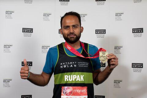 Rupak Ramachandran London Marathon