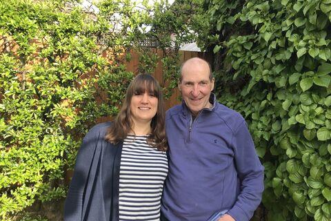 Rachel with her Dad